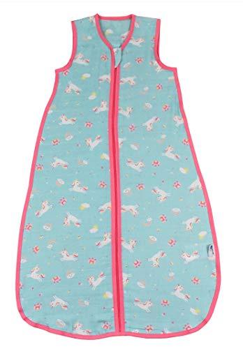Schlummersack - Saco de dormir para bebé (bambú, sin forro, 0,2 tog, disponible en diferentes tamaños y diseños) unicornio Talla:70 cm