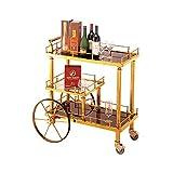 Yaeele Serving Cart Trolley, servizio Carrelli Cucina Carrelli Bar Carrelli Wine Rack carrelli su ruote con bagagli industriale di rotolamento Carts 3 Tiers vino Tea Beer Ripiani supporto in acciaio i