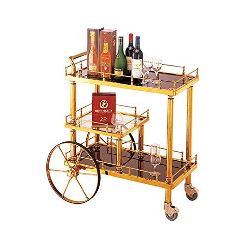 CENPEN Sirviendo carro de la carretilla, que sirve cocina Carros Carros Carros Bar estante del vino de carros con ruedas y balanceo de almacenamiento industrial Carros 3 Niveles Vino té Cerveza titula