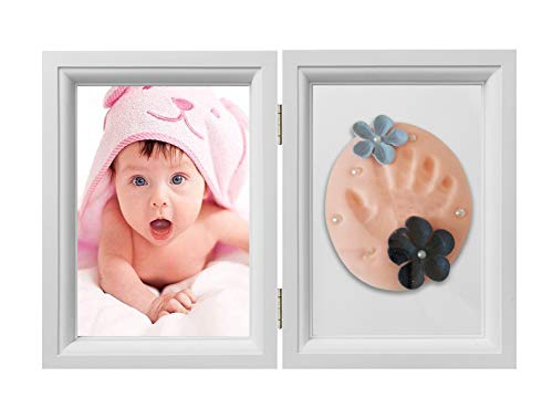 Baby Handprint Footprint Kit Photo Frame for Newborn Girls...