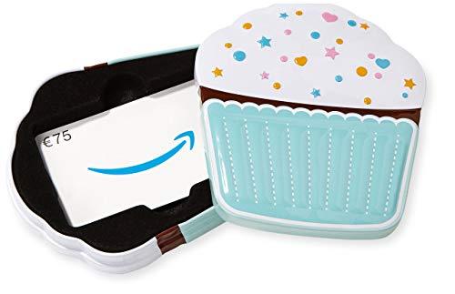 Amazon.de Geschenkkarte in Geschenkbox - 75 EUR (Cupcake)