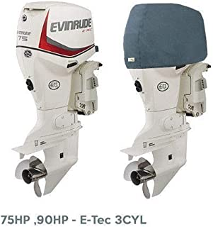 Oceansouth Custom Fit Storage Covers for Evinrude Inline 75HP, 90HP