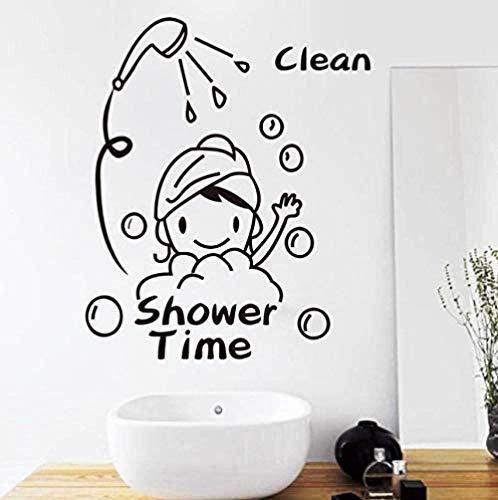 Calcomanía de vinilo para pared decoración de pared 44X53 cm tiempo de ducha baño baby shower impermeable decoración del hogar pared para niños