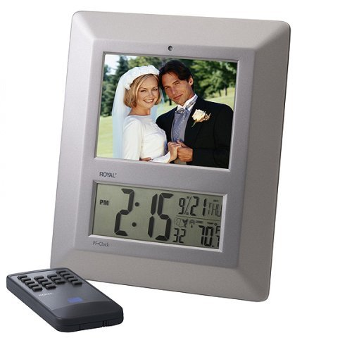 5.6-Inch LCD Royal PF Clock Digital Picture Frame with Clock/Temp