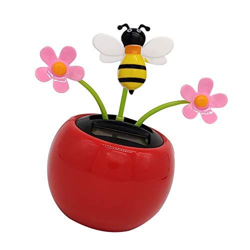 freneci Solarbetriebene Insekt Tanzen Puppe - Rot - Biene, Honigbiene - 2
