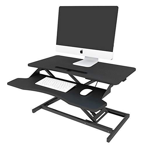 Standing Desk Sit-Stand Desk Converter with 80x40cm Platform Ergonomic Stand up Computer Desk...