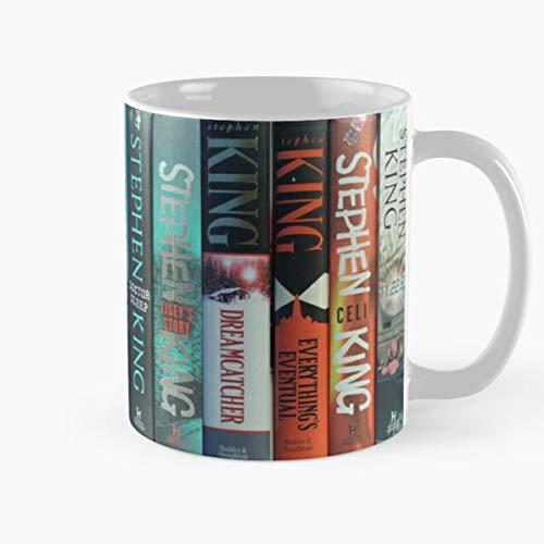 Shoprkcb Stephen Author Horror Novel King Fiction Books Spines Hardcover Best 11 oz Kaffeebecher - Nespresso Tassen Kaffee Motive