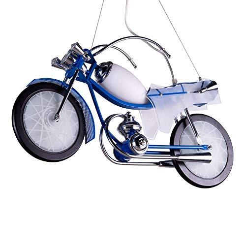 CSD Habitación Boy dormitorio motocicleta Iluminación pendiente de los niños creativos de dibujos animados de la lámpara de la tienda de ropa Lámpara colgante de hierro forjado E27, 3 Jefes de luz