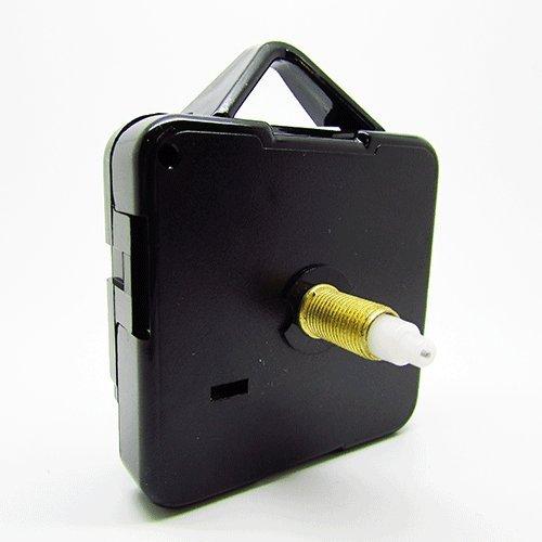 Sweep-Quartz-Uhrwerk, sehr leise, Selbstmontage, inklusive Beschlägen, mechanischem Motor, 10er Pack, verschiedene Größen erhältlich, plastik, Schwarz , Long - Gold thread 13mm - Total 21mm