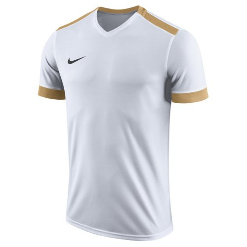 Nike Park Derby II SS, T-Shirt Uomo, Bianco Jersey Gold/Nero, XL