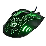 LYX Estone X9 USB 6 Buttons 5000 DPI Wired Multi Color LED Optical Gaming Mouse for Computer PC Laptop(Black) Support Plug and Play, No Driver Required