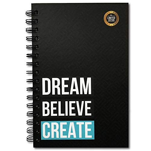 The positive store, Dream Believe Create Daily Planner for Time Management Undated Law of Attraction Gratitude Journal with Hardcover, 220 Pages (90 Days Planner + Notes), 90 GSM Paper
