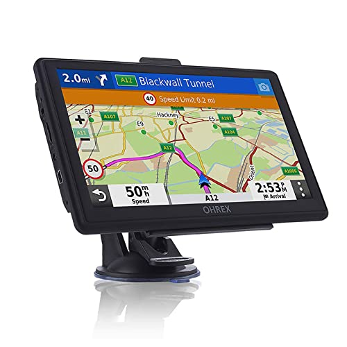 OHREX Sat Nav, 7 inch with Bluetooth Handsfree Calling, GPS Navigation for Cars Trucks Lorries HGV...