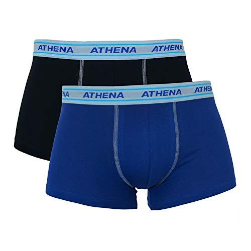 ATHENA Herren Boxershort Gr. S, schwarz/blau