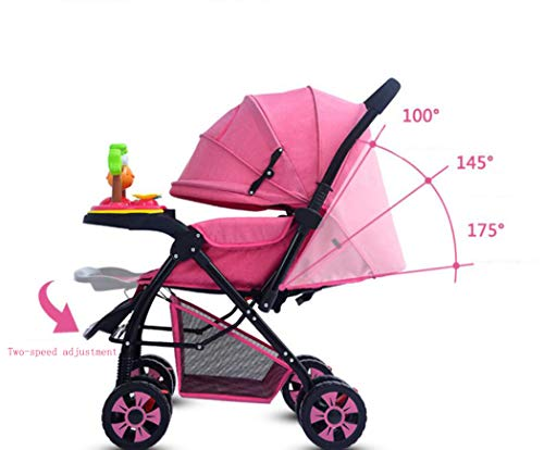 RAPLANC High View And Stylish Stroller, Baby Stroller for 2020, Four-Wheel Shock Absorption, 360-Degree Rotation Function, for Travel, Girly Heartpink,Blue RAPLANC ★ Fit kids 3-years up to 25kgs.Carbon steel material design to protect the safety of the baby.Can be fold into a very small size. Easy for traveling and car trips. Convenient one-hand and self-standing fold are smooth when use for pack up and go. ★ Large extended foldable canopy for maximum sun shade. A week-a-boo window, you can easily keep a watchful eye on your baby. Stay connected with your baby and no more worry while ensuring ventilation. Enlarge and easy to access storage basket holds all baby's necessities. Detachable cloth covers for easy cleaning. ★ Powder coating crafts. High quality material without pollutant. Small, light and practical. Armrest can be opened quickly in the middle. Detachable armrest offers safety guard and also allows baby easily in and out. 2