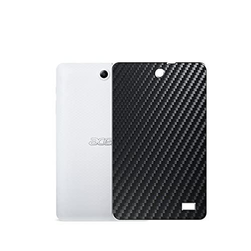 VacFun 2 Piezas Protector de pantalla Posterior, compatible con B1-850 Acer Iconia One 8 8', Película de Trasera de Fibra de carbono negra Skin Piel
