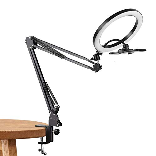 Stand Clamp Mount Suspension Holder Arm, Fill Light Video Shooting Live Broadcasting Selfies Makeup, Work Home Video Recording Conference Lighting Kit Live Broadcast