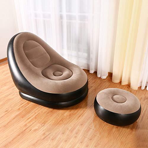 JKJ Deluxe Lounger, Lazy Sofa Liegestuhl mit bequemen Beine Hockern, Double-Layer-Anti-Leckluftstecker, Für Outdoor-Home Use