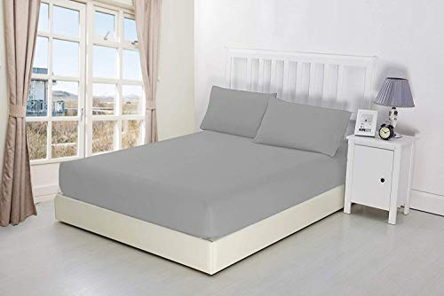 NIYS Luxury Bedding 100% Egyptian Cotton Extra Deep Fitted Sheets 16'/40CM...