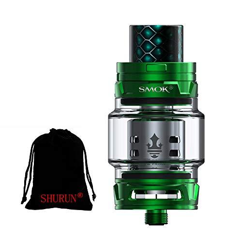Original Smok TFV12 Prince Tank 8ml Capacity mit TFV12 Prince Coils ohne Nikotin inklusive SHURUN Aufbewahrungstasche (Grün)