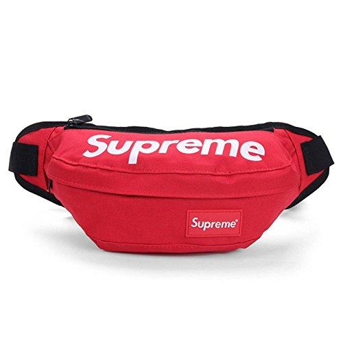 Supreme-Bauchtasche von Wapour, elastische Lauf-Tasche, atmungsaktive Nierentaschen, bequem für Laufen, Reisen, Radfahren, Wandern, Camping und andere Outdoor-Aktivitäten, rot