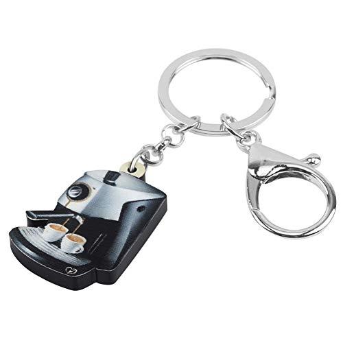 GMTEXTILES Acryl KaffeemaschineTasseSchlüsselanhänger RingeTasche Auto Geldbörse Dekoration Schlüsselanhänger für Frauen Mädchen Teen Männer Geschenk