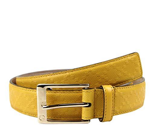 Gucci 345658 - Cinturón de piel con hebilla cuadrada para hombre
