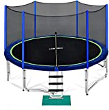 Zupapa 15 14 12 10 FT Trampoline 425 LBS Weight Capacity for Kids with Safety Enclosure Net Outdoor Trampolines with All Accessories… (15FT)