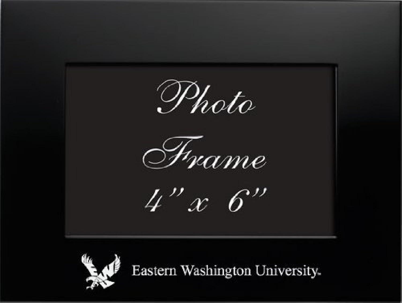 Eastern Washington University–4x 6gebürstete Metall Bilderrahmen–schwarz von Lxg, Inc.