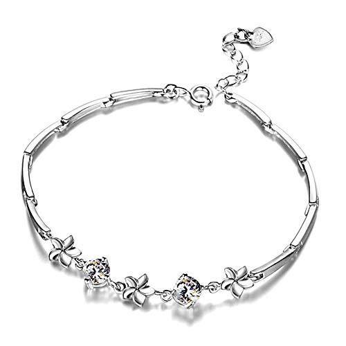 Braccialetti Donna Argento Bracciale Donna Elegante Infinity Lucky Fortune Hand Chain Charm Bracciale Personalizzato In Argento Sterling