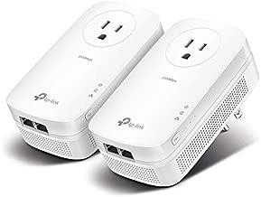 TP-Link AV2000 Powerline Adapter - Gigabit Port, Ethernet Over Power, Plug&Play, Power Saving, MU-MIMO, Noise Filtering(TL-PA9020P KIT)