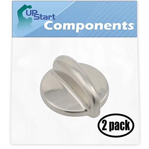 2 Pack Surface Burner Control WB03K10303 Range Stove Oven Control Knob Replacement for General Electric PGB910SEM4SS Range