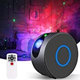 Galaxy Projector, GooDGo Dynamic Christmas Star Light Projector for Bedroom, Laser LED Nebula Cloud Starry Sky Night Light with Remote Control for Kids Adults Party -Black