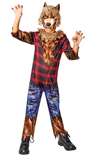 Rubie's Offizielles Werwolf-Halloween-Kostüm für Kinder, Größe L, Alter 7–8 Jahre