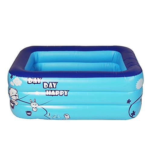 DFSDG 1.2m / 1.3m / 1.5 M Piscina Cuadrada Inflable para Adultos Accesorios de Flotador de PVC para niños Bañera para niños Bañera Al Aire Libre Pool de remar (Size : 1.5m)