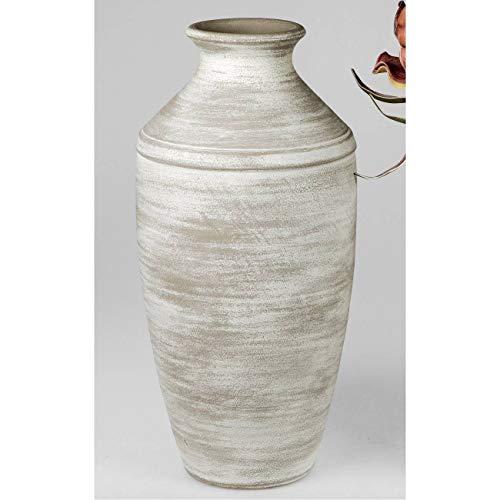 formano Deko Bodenvase Landhaus H. 58cm D. 26cm grau Keramik