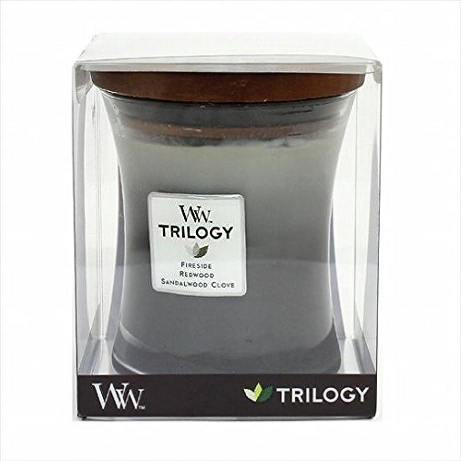 テンポストラトフォードオンエイボンリークカメヤマキャンドル( kameyama candle ) Wood Wick トリロジージャーM 「 ウォームウッズ 」