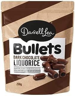 Darrell Lea Dark Chocolate Liquorice Bullets 250g x 12