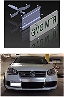 NO Holes License Plate Bracket Kit for The VW MKV Models (MK5 2006-2009 Jetta, EOS, GTI, R32) No Drill Tow Hook License Plate Mount