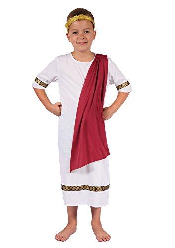 Ciao-Imperatore Romano Costume Bambino, Bianco, L (7-9 anni), 61232.L
