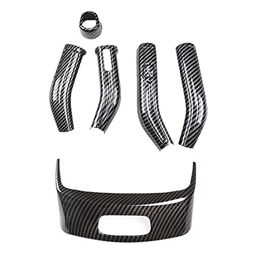 EMEI Cubierta de interruptor de la caja del reposabrazos central para Benz Clase A W177 Clase C A180L 2019 palanca de cambio de volante cubierta de la barra de limpiaparabrisas (color gris)