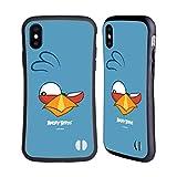 Head Hülle Designs Offiziell Offizielle Angry Birds Blues Volles Gesicht Hybride Handyhülle Hülle Huelle kompatibel mit Apple iPhone X/iPhone XS