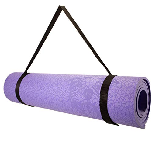 Koa Yoga Mat-Essential Purple TPE, Latex-free, Eco-friendly, Non-toxic, Non-slip, thick mat 6' x 2' x 8mm + Donation to Charity