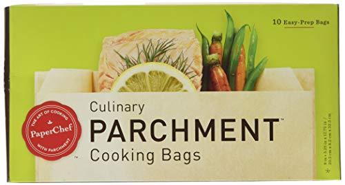 PaperChef PC5003 (2 Pack) Parchment Paper Nonstick Cooking Bags, 10-ct/Box, 1483, Tan