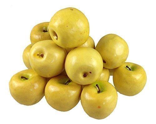 Deko Kunstobst Kunstgemüse künstliches Obst Gemüse Dekoration Apfel (gelb, 15 Stück schweren Qualität)
