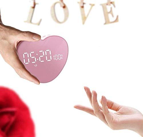 MJ-Alarm Clock Réveil Portable Haut-Parleur sans Fil Bluetooth Son Multifonction Horloge
