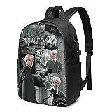 Draco-Malfoy - Mochila USB clásica de 17 pulgadas, para la escuela, oficina, viajes
