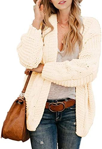 Astylish Womens Fashion Winter Fall Thick Cozy Open Front Long Sleeve Chunky Knitting Ribbed product image