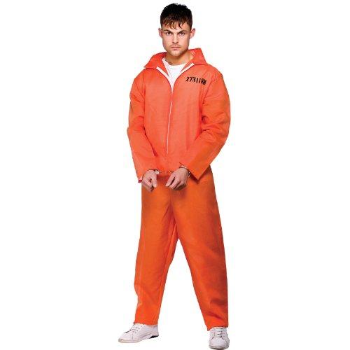 ORANGE CONVICT SUIT PRISONER ADULT COSTUME FANCY DRESS UP PARTY STAG NIGHT