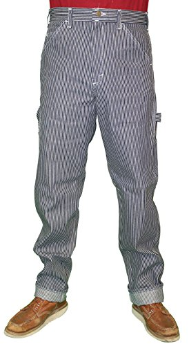 Stan Ray Denim Carpenter Painter Style Work Pants Jeans - Made in the USA Hickory Stripe 29X30